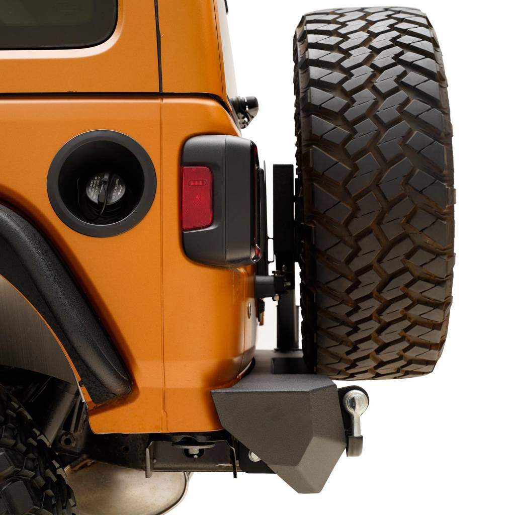 EAG Rear Bumper with Tire Carrier and Tire Adapter Fit for 18-19 Jeep Wrangler JL