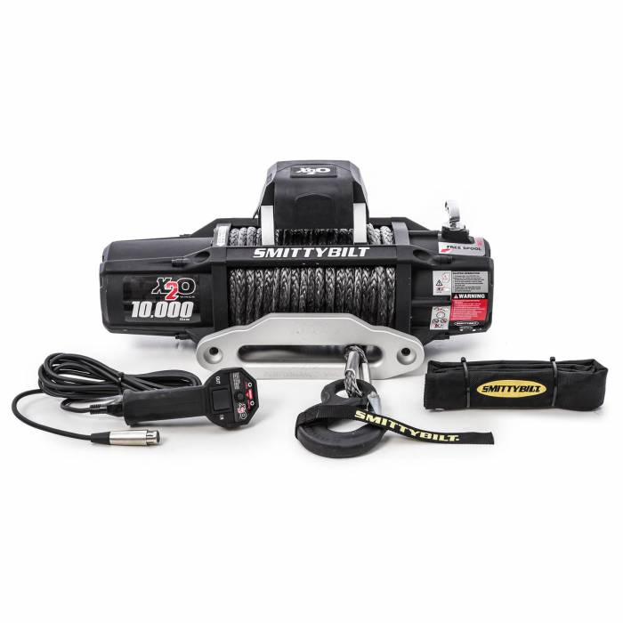Smittybilt - Smittybilt X2O 10 Comp - Gen2 - 10,000 lb. Winch - Comp Series W/Synthetic Rope & Aluminum  Fairlead 98510