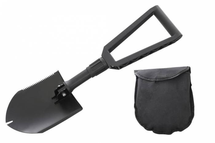 Overland Vehicle Systems - Multi Functional Military Style Utility Shovel with Nylon Carrying Case Overland Vehicle Systems #19049901